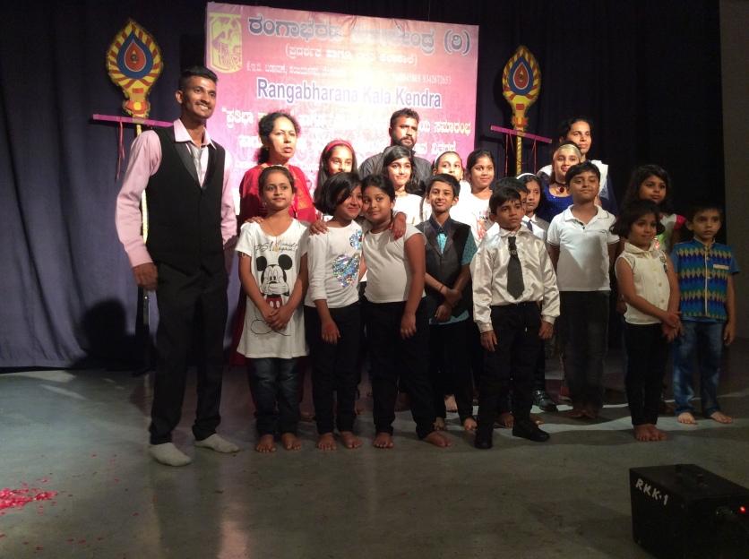 Kids at Rangabharana Kala Kendra Summer Camp