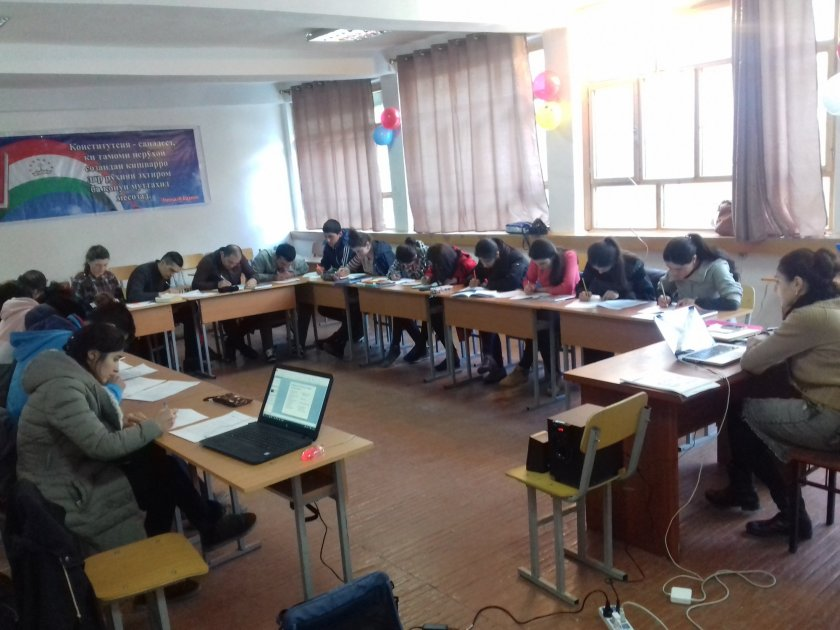 Beneficiraies of WEF project ( Advance English Course) in Tajikistan